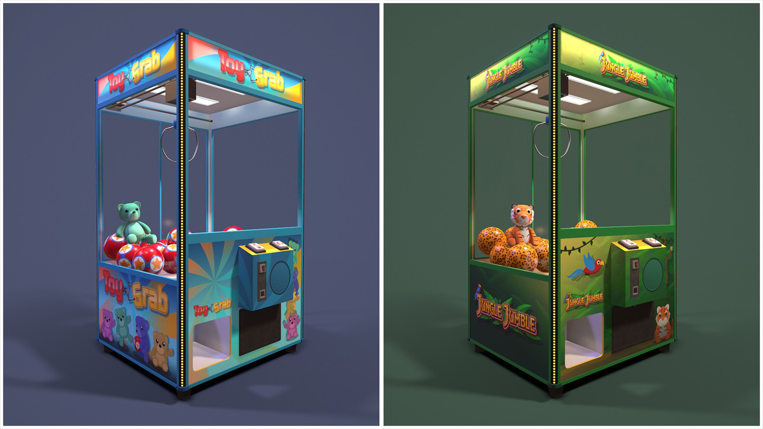 render of both claw machines