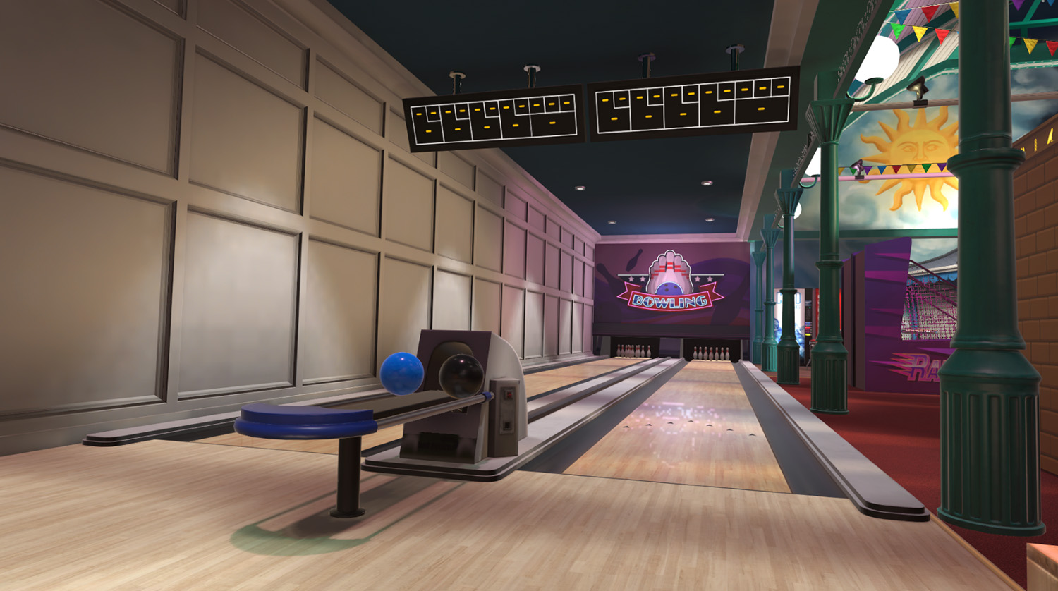 screenshot of bowling alley